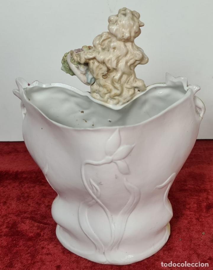 Antigüedades: COLECCION DE 5 FIGURAS EN PORCELANA. BISCUIT. ALEMANIA. SIGLO XX. - Foto 9 - 225271340