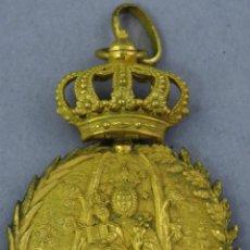 Antigüedades: MEDALLA DE BRONCE DORADO VIRGEN DE LA VALVANERA MONASTERIO DE SAN JUAN EN POYO PONTEVEDRA SIGLO XIX. Lote 225283901