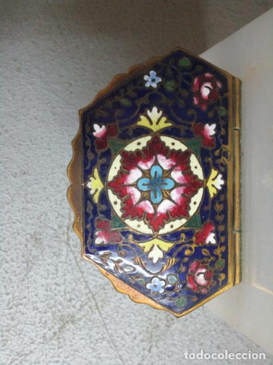 Antigüedades: Bonita Pila Benditera - Mármol - Cruz - Bronce Esmaltado - S. XIX - Foto 5 - 225310345