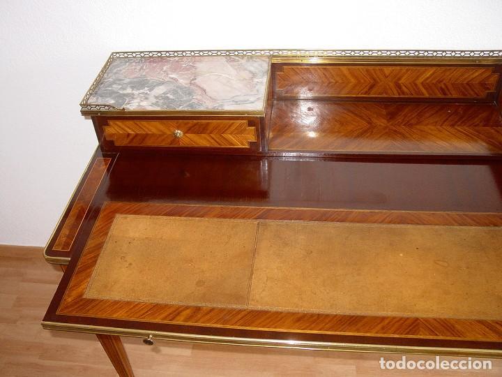 Antigüedades: BUREAU ESCRITORIO CAOBA ESTILO FRANCES-1ª MITAD 1900-BRONCE MARQUETERÍA PALORROSA LIMONCILLO-HERRAIZ - Foto 19 - 225322790