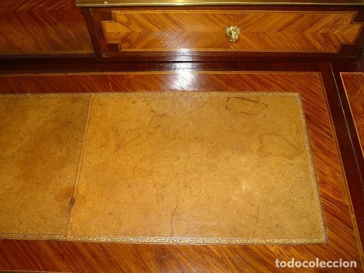 Antigüedades: BUREAU ESCRITORIO CAOBA ESTILO FRANCES-1ª MITAD 1900-BRONCE MARQUETERÍA PALORROSA LIMONCILLO-HERRAIZ - Foto 31 - 225322790
