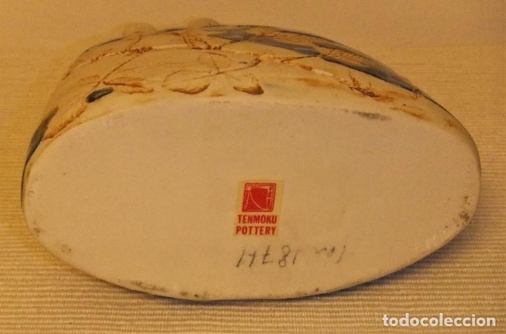 Antigüedades: JARRÓN DE CERÁMICA TENMOKU POTTERY - Foto 5 - 225346315