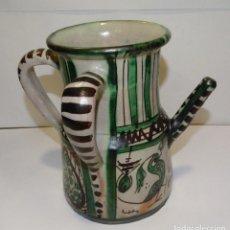 Antigüedades: JARRA DE TRES ASAS Y PITORRO CERÁMICA DE TERUEL. Lote 225358053