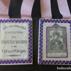 Antigüedades: ESCAPULARIO NUESTRA SEÑORA DEL PERPETUO SOCORRO. Lote 225360055