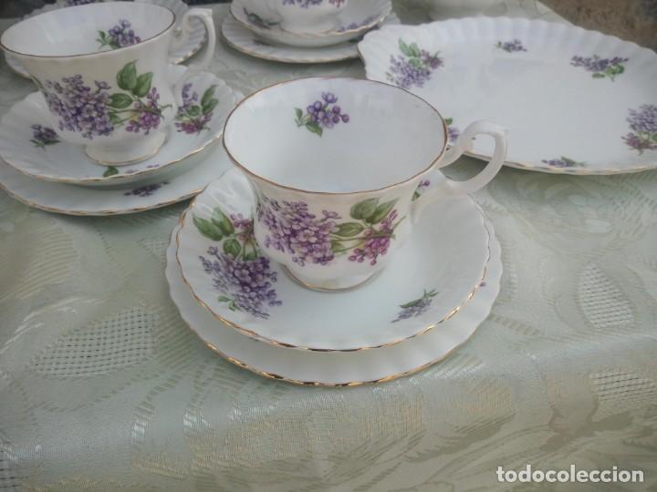 Antigüedades: Precioso juego de té de porcelana richmond bone china england. 21 piezas. - Foto 3 - 225363645