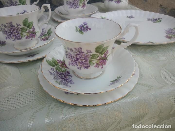 Antigüedades: Precioso juego de té de porcelana richmond bone china england. 21 piezas. - Foto 4 - 225363645