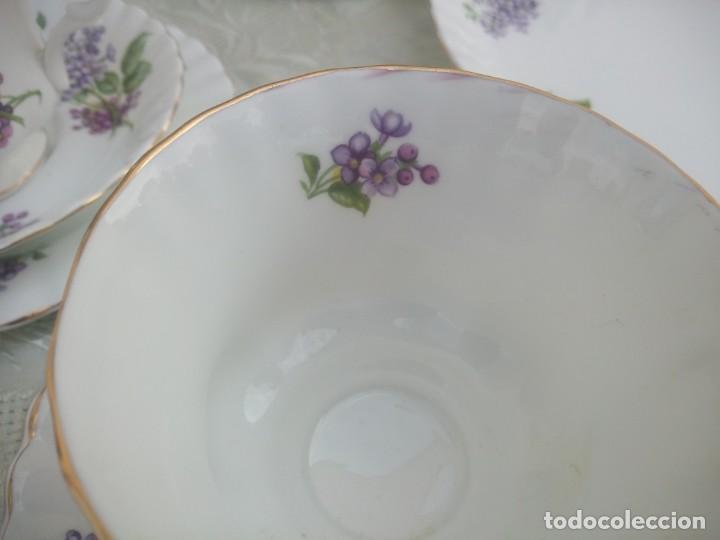 Antigüedades: Precioso juego de té de porcelana richmond bone china england. 21 piezas. - Foto 5 - 225363645