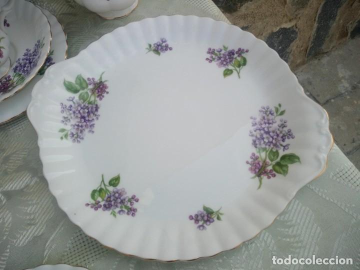 Antigüedades: Precioso juego de té de porcelana richmond bone china england. 21 piezas. - Foto 6 - 225363645