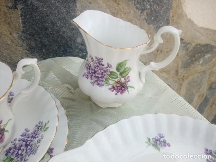 Antigüedades: Precioso juego de té de porcelana richmond bone china england. 21 piezas. - Foto 7 - 225363645
