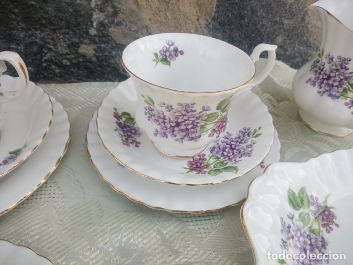 Antigüedades: Precioso juego de té de porcelana richmond bone china england. 21 piezas. - Foto 8 - 225363645