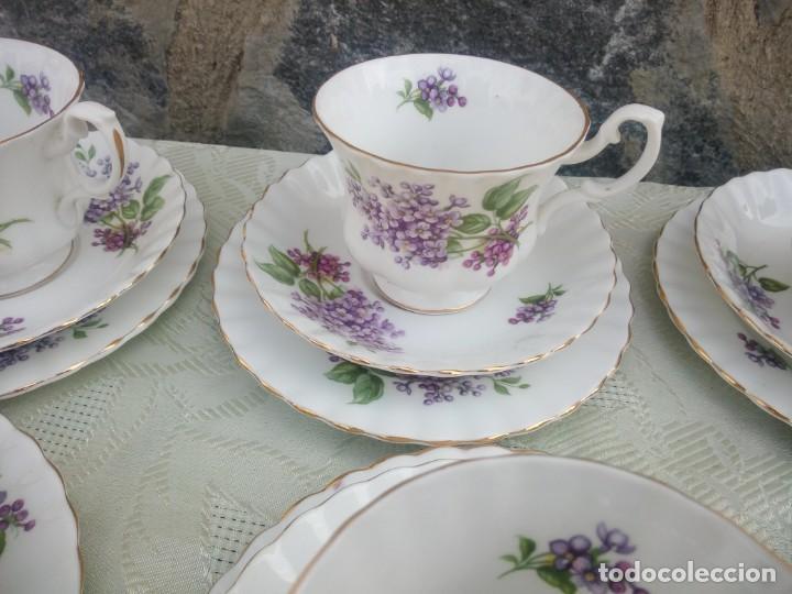 Antigüedades: Precioso juego de té de porcelana richmond bone china england. 21 piezas. - Foto 9 - 225363645