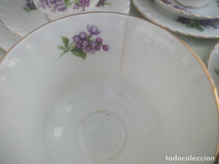 Antigüedades: Precioso juego de té de porcelana richmond bone china england. 21 piezas. - Foto 10 - 225363645