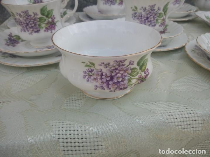 Antigüedades: Precioso juego de té de porcelana richmond bone china england. 21 piezas. - Foto 11 - 225363645