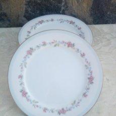 Antigüedades: LOTE DE 7 PLATOS LLANOS DE PORCELANA RC JAPAN BLUE GARLAND. Lote 225383185