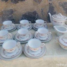 Antigüedades: JUEGO DE TÉ Y POSTRE DE PORCELANA RC JAPAN BLUE GARLAND,27 PIEZAS PARA 8 PERSONAS.. Lote 225383975