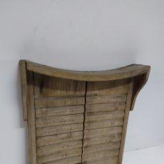 Antiguidades: TABLA DE MADERA PARA LAVAR. Lote 225387365
