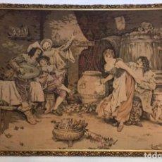 Antigüedades: TAPIZ SIGLO XIX. FIRMADO POR D´APRÈS F. VINEA. FRANCES. Lote 225394515