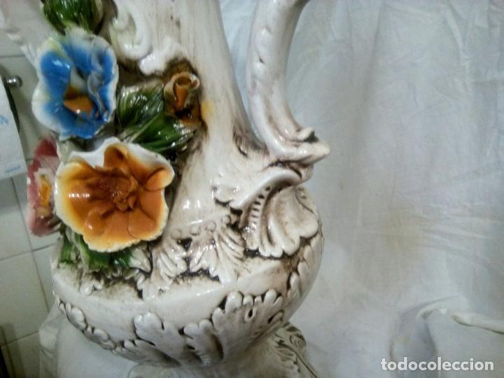 Antigüedades: Gran jarrón Capodimonte. Masivo. Casi de grande como un paragüero.53 cm. - Foto 3 - 225400370