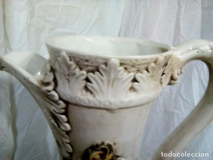 Antigüedades: Gran jarrón Capodimonte. Masivo. Casi de grande como un paragüero.53 cm. - Foto 12 - 225400370