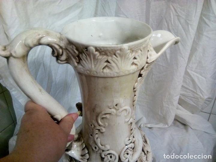 Antigüedades: Gran jarrón Capodimonte. Masivo. Casi de grande como un paragüero.53 cm. - Foto 20 - 225400370