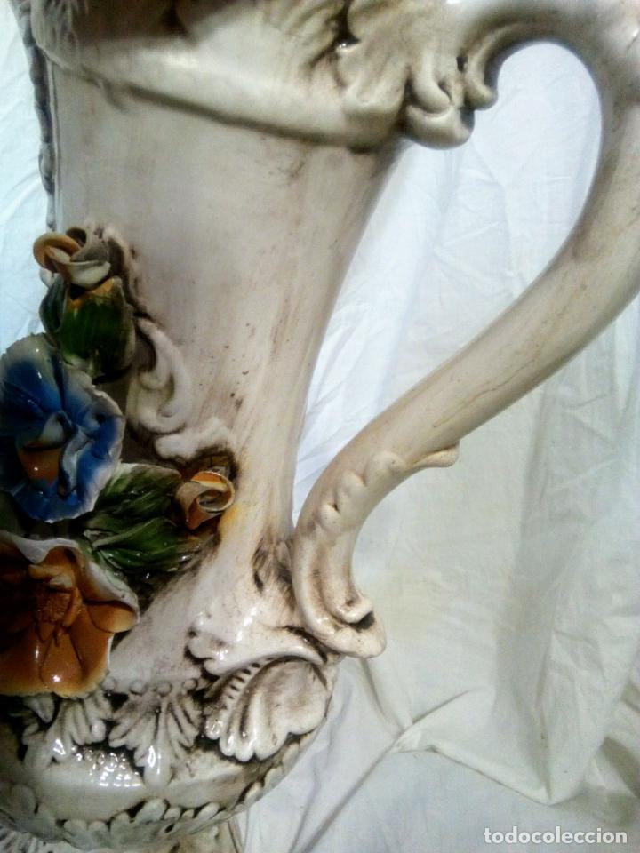 Antigüedades: Gran jarrón Capodimonte. Masivo. Casi de grande como un paragüero.53 cm. - Foto 22 - 225400370