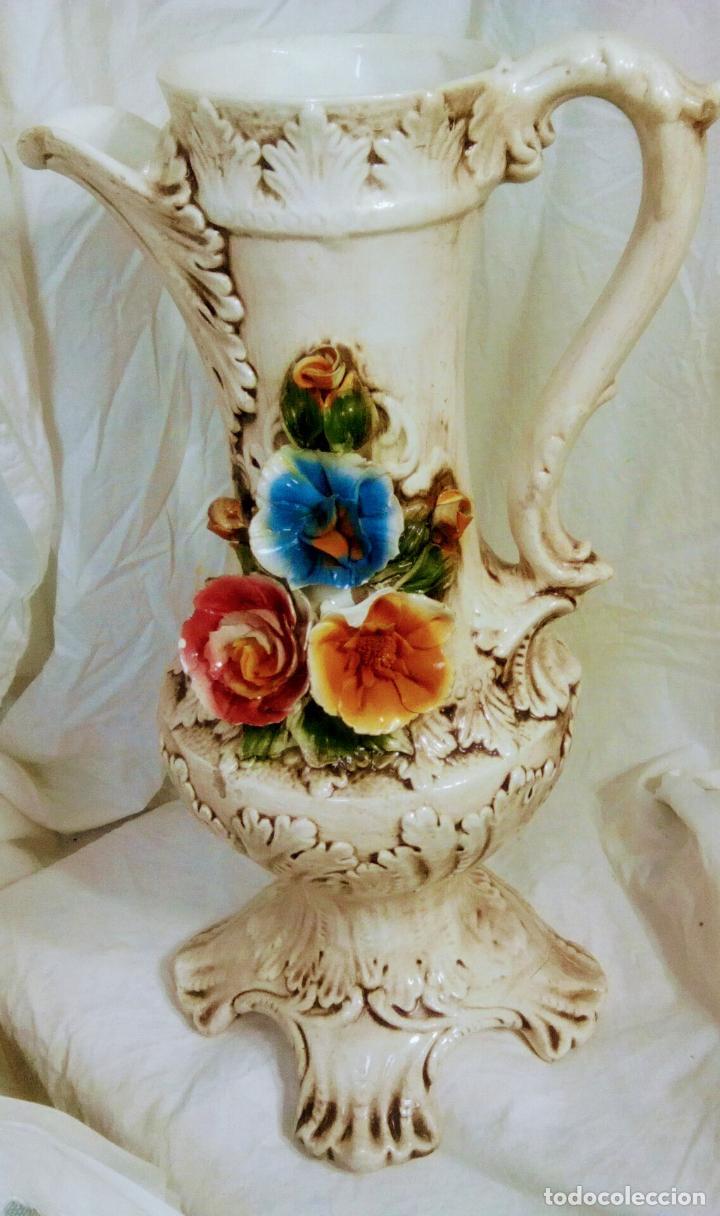 Antigüedades: Gran jarrón Capodimonte. Masivo. Casi de grande como un paragüero.53 cm. - Foto 23 - 225400370