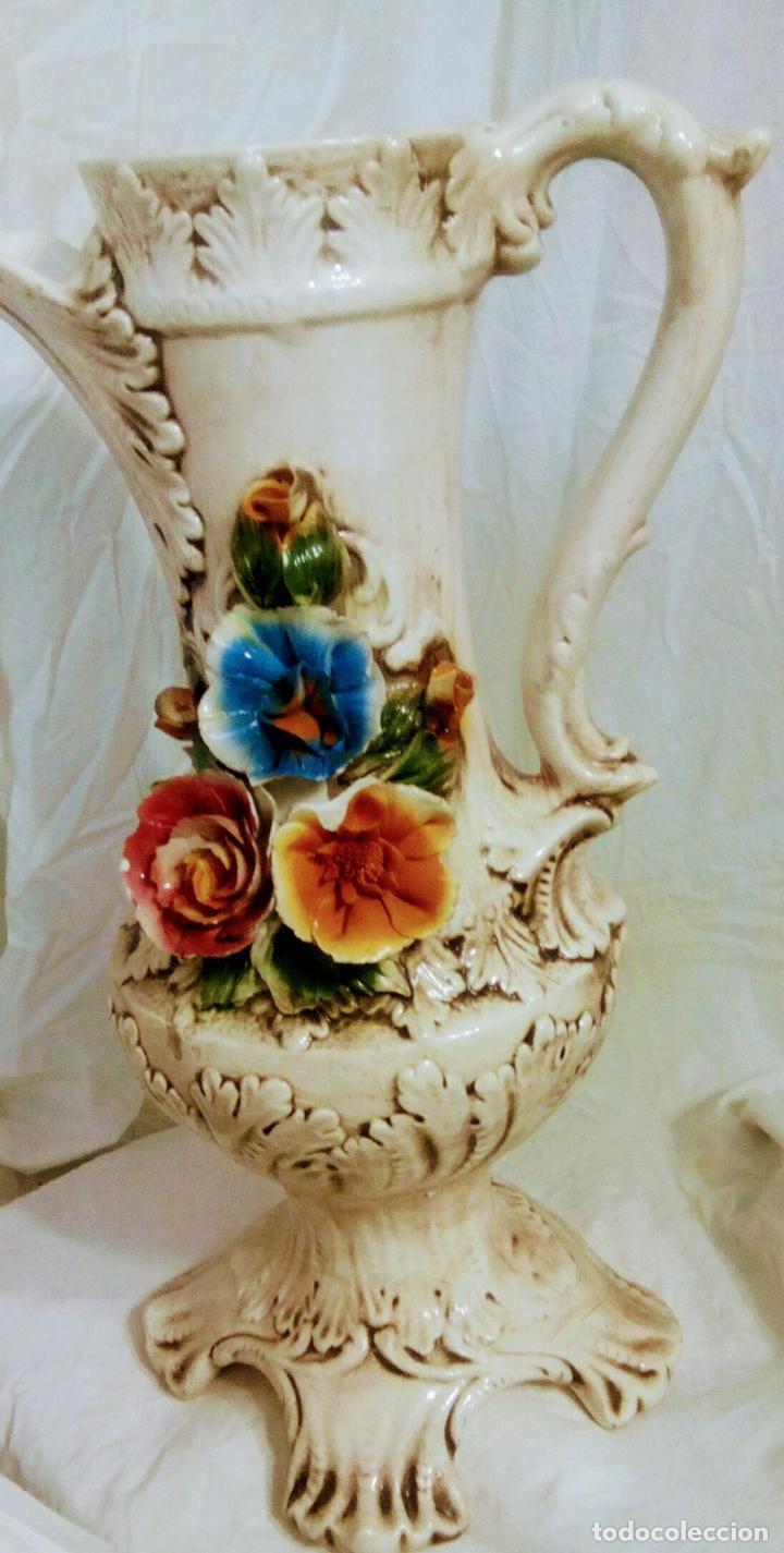 Antigüedades: Gran jarrón Capodimonte. Masivo. Casi de grande como un paragüero.53 cm. - Foto 24 - 225400370