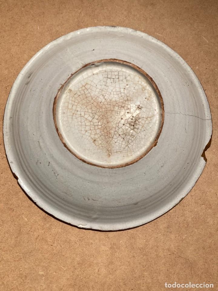 Antigüedades: Ocho platos de cerámica antigua - Foto 5 - 225499235