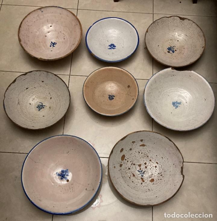 Antigüedades: Ocho platos de cerámica antigua - Foto 33 - 225499235