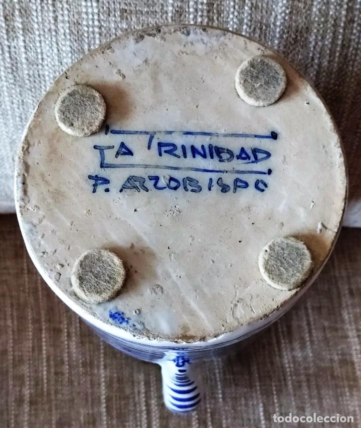 Antigüedades: ANTIGUA JARRA DE CERAMICA DE PUENTE DEL ARZOBISPO - Foto 7 - 225545150