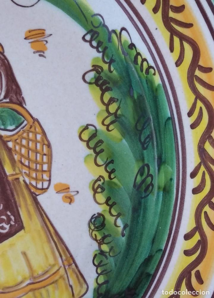 Antigüedades: PLATO DE CERAMICA DE PUENTE DEL ARZOBISPO - Foto 5 - 225547925
