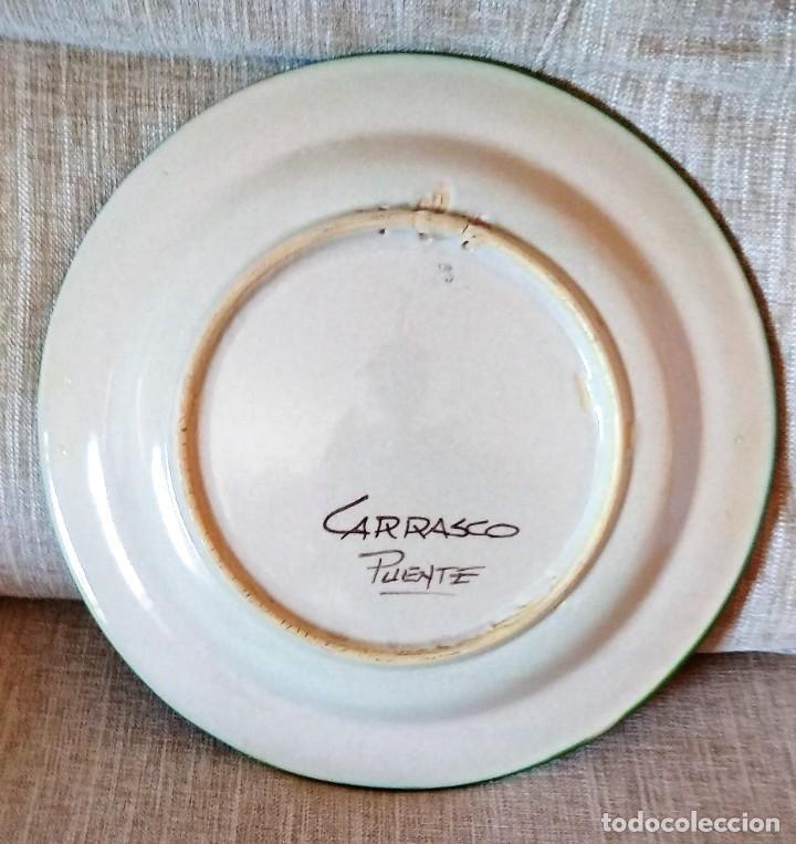Antigüedades: PLATO DE CERAMICA DE PUENTE DEL ARZOBISPO - Foto 6 - 225547925