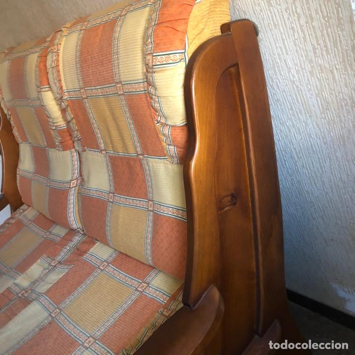 Antigüedades: Sofá de madera dos plazas . - Foto 5 - 225576535