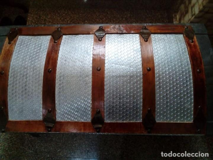 Antigüedades: ANTIGUO BAUL GRANDE RESTAURADO - Foto 2 - 165516710