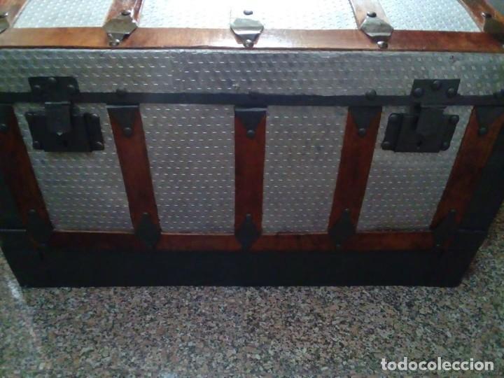 Antigüedades: ANTIGUO BAUL GRANDE RESTAURADO - Foto 3 - 165516710