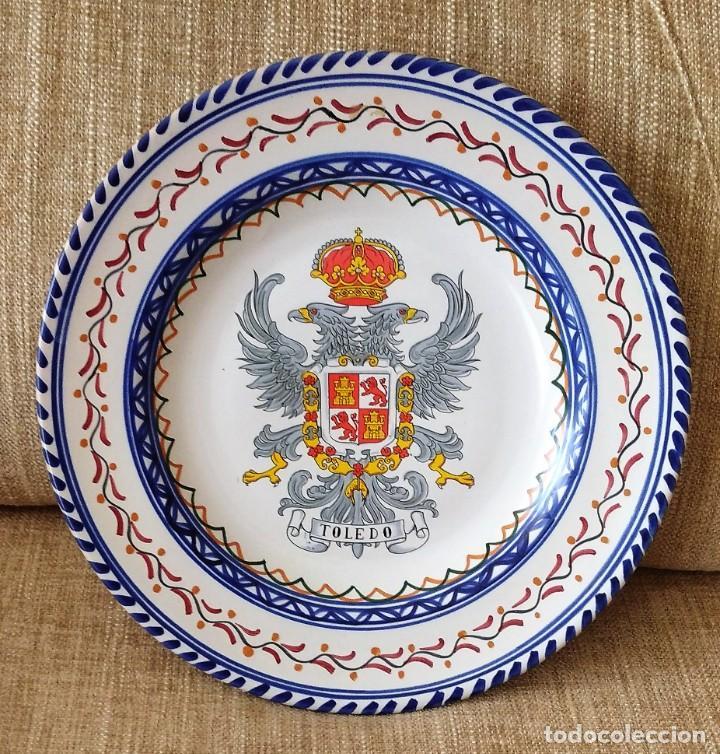 ANTIGUO PLATO ESCUDO TOLEDO (Antigüedades - Porcelanas y Cerámicas - Puente del Arzobispo )