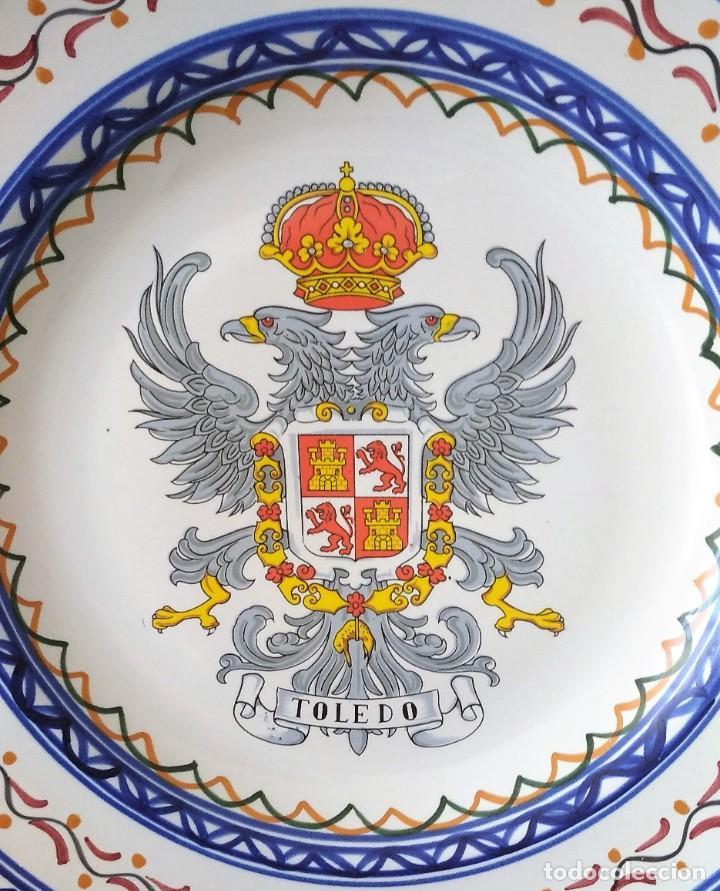 Antigüedades: ANTIGUO PLATO ESCUDO TOLEDO - Foto 2 - 225698840