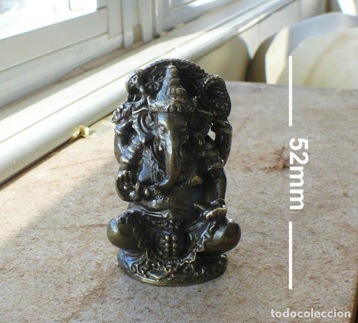 Antigüedades: escultura en miniatura.elefante. bronce .El budismo - Foto 2 - 225731640