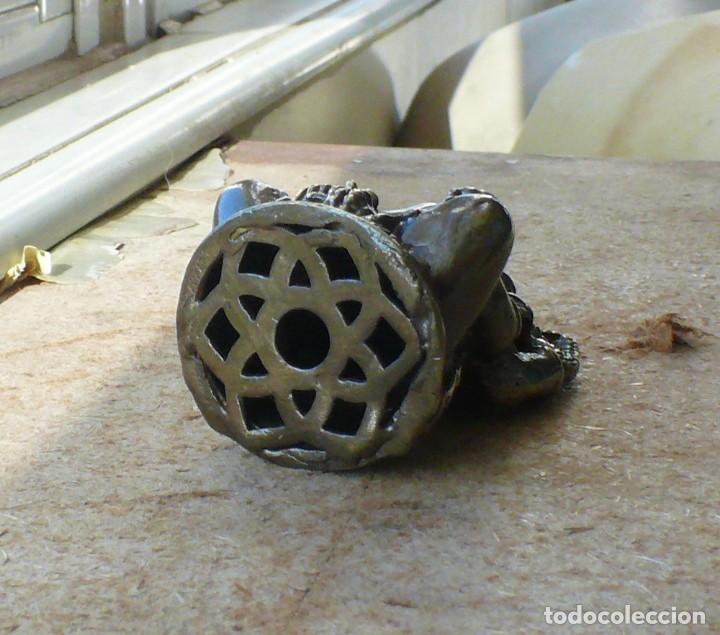 Antigüedades: escultura en miniatura.elefante. bronce .El budismo - Foto 3 - 225731640