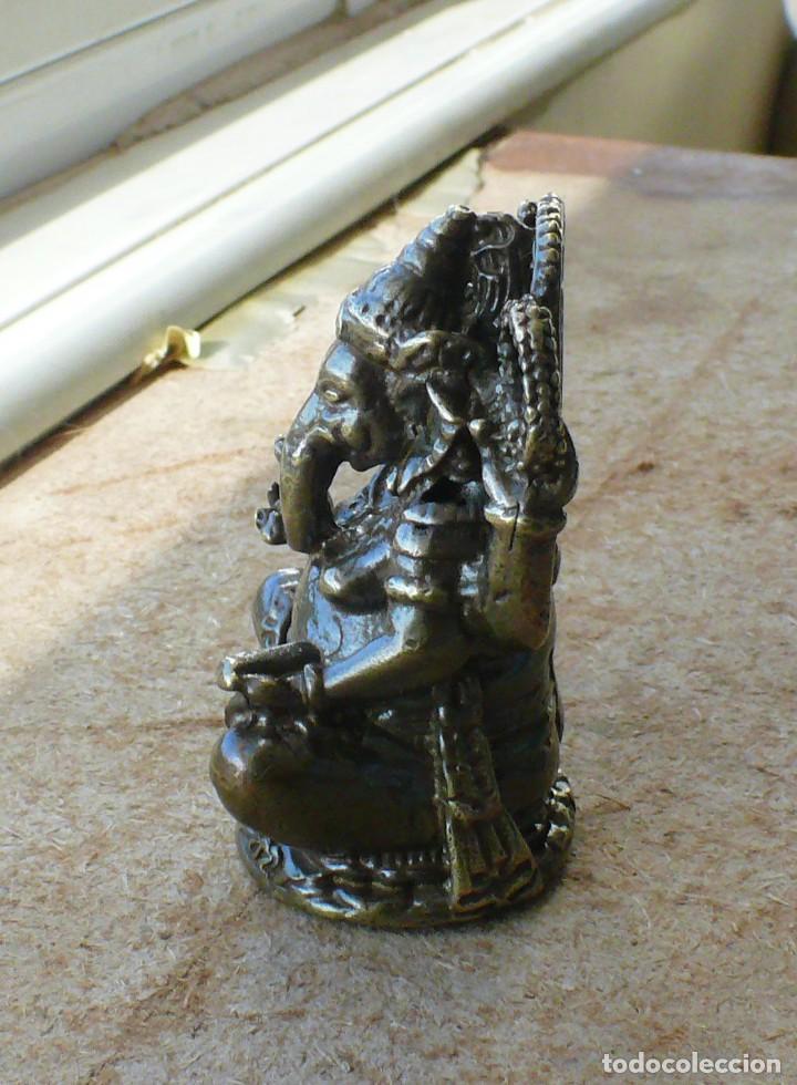 Antigüedades: escultura en miniatura.elefante. bronce .El budismo - Foto 7 - 225731640