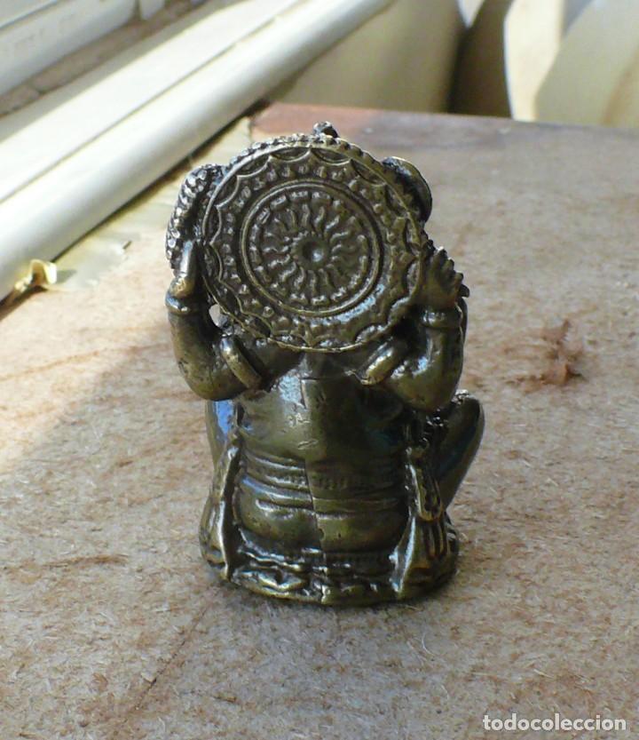 Antigüedades: escultura en miniatura.elefante. bronce .El budismo - Foto 8 - 225731640