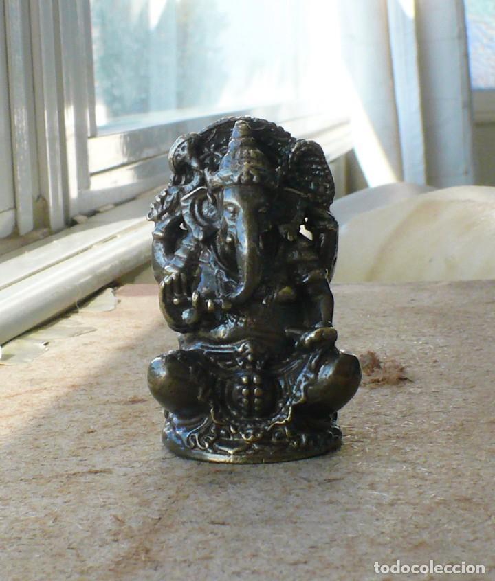 Antigüedades: escultura en miniatura.elefante. bronce .El budismo - Foto 10 - 225731640
