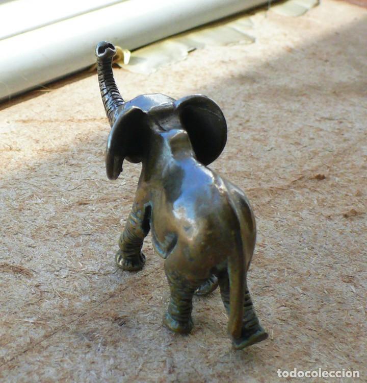 Antigüedades: escultura en miniatura. bronce .elefante - Foto 5 - 225736807