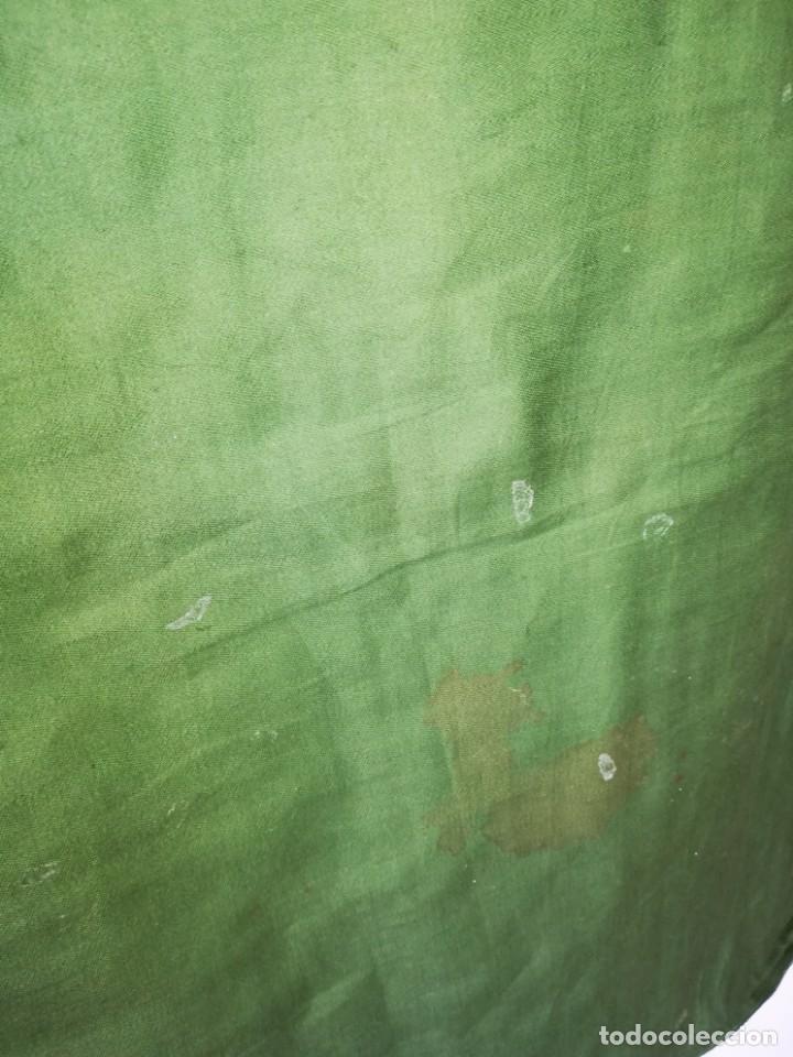 Antigüedades: Casulla damasquinada bordado JHS con etiqueta del fabricante - Foto 27 - 225765535