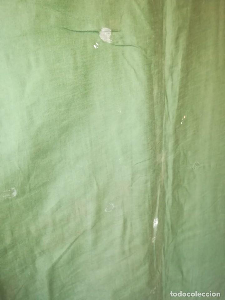 Antigüedades: Casulla damasquinada bordado JHS con etiqueta del fabricante - Foto 28 - 225765535