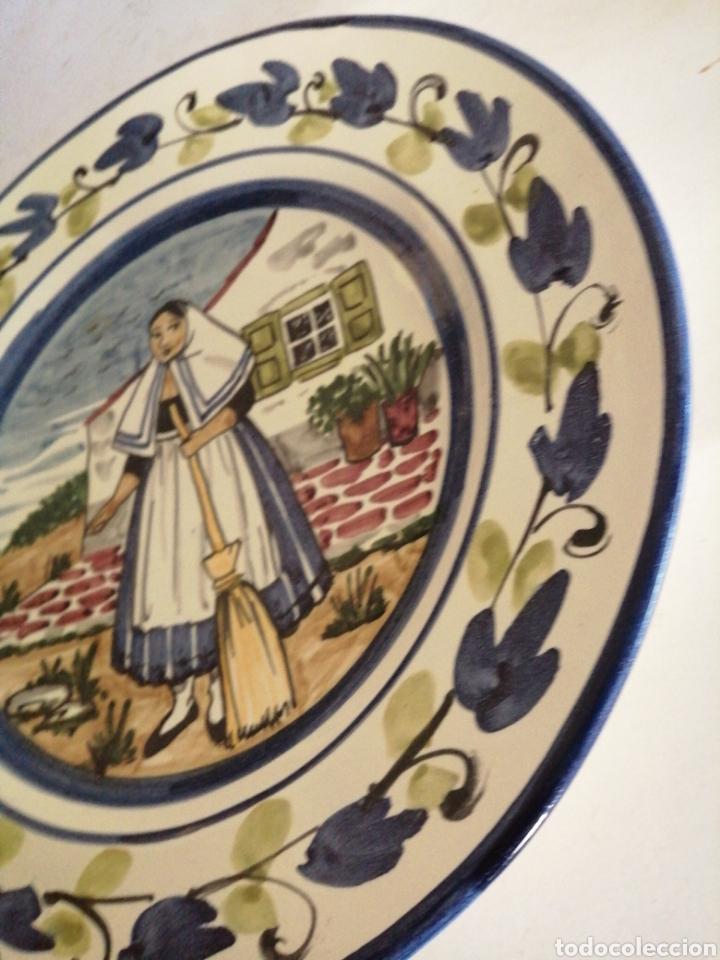 Antigüedades: Plato en porcelana para colgar - Foto 4 - 225775840