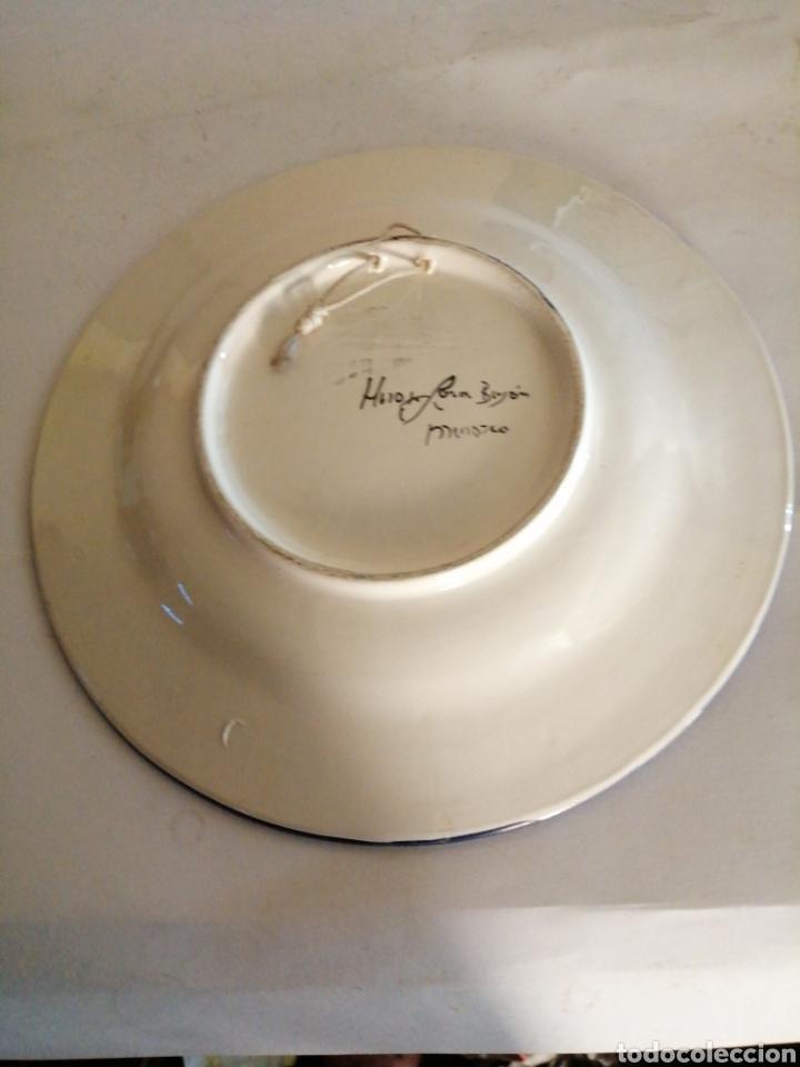 Antigüedades: Plato en porcelana para colgar - Foto 5 - 225775840