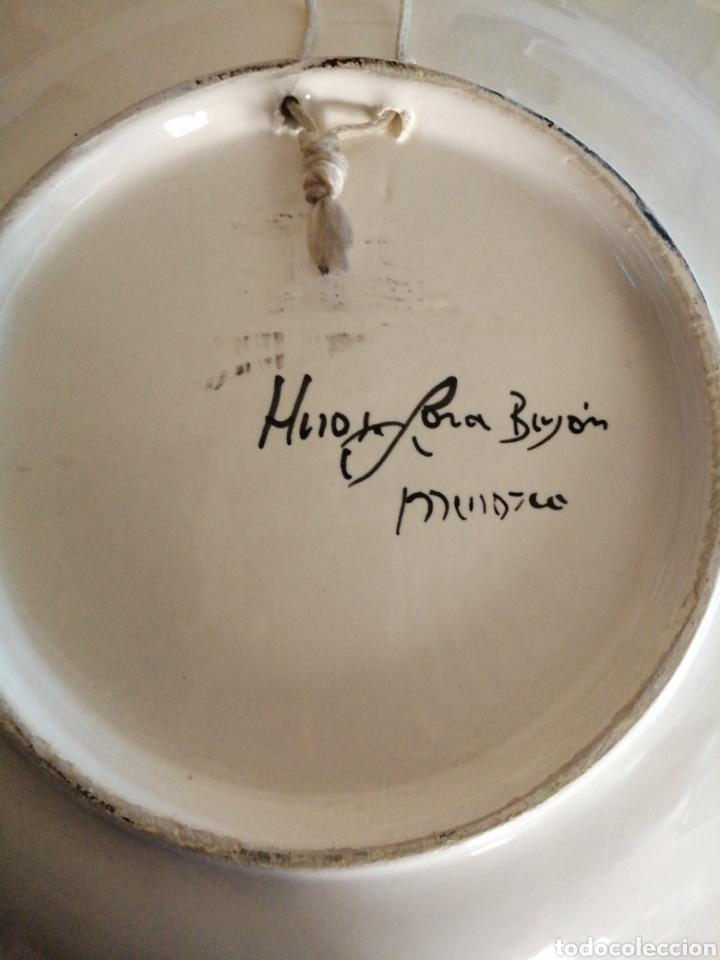 Antigüedades: Plato en porcelana para colgar - Foto 6 - 225775840