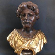 Antigüedades: PRECIOSO BUSTO RELICARIO DE ESTILO BARROCO DEL SIGLO XVIII CON RELIQUIA DE SAN JUAN. Lote 225783557