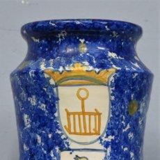 Antigüedades: ALBARELO DE CERAMICA DE PUENTE ARZOBISPO. SIGUIENDO MODELOS DEL ESCORIAL SIGLO XVI. Lote 225791835